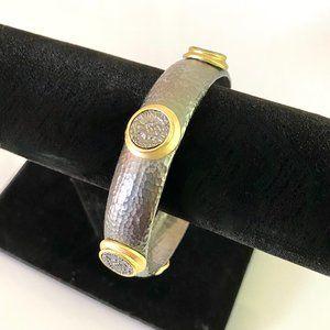 Dark Grey, Gold & Coin Design Bracelet